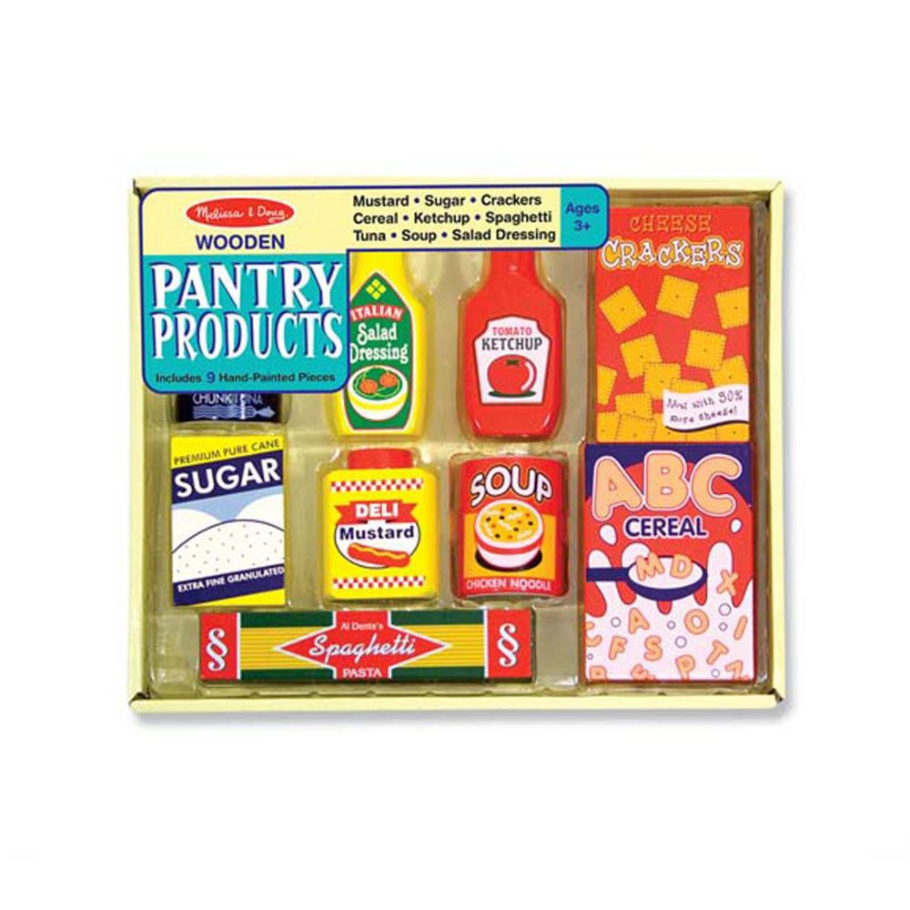 Toys Games Melissa Doug Dry Goods Pantry Food Set Wooden Play Food