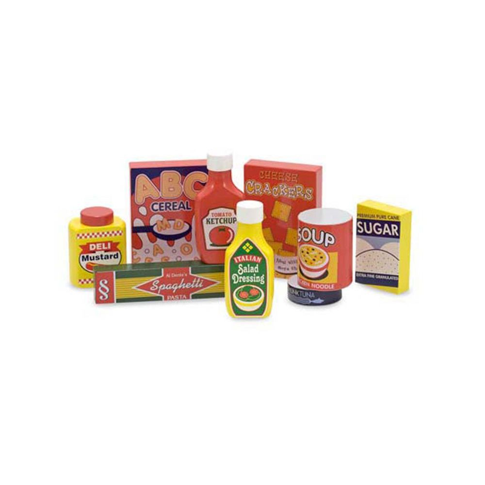 Toys & Games Melissa & Doug Dry Goods Pantry Food Set - Wooden Play Food