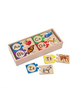 Toys & Games Melissa & Doug Alphabet Wooden Puzzle Cards