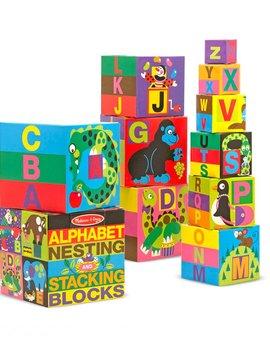 Toys & Games Melissa & Doug Alphabet Nesting and Stacking Blocks