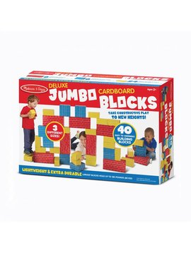 Toys & Games Melissa & Doug Deluxe Jumbo Cardboard Blocks (40 pc)