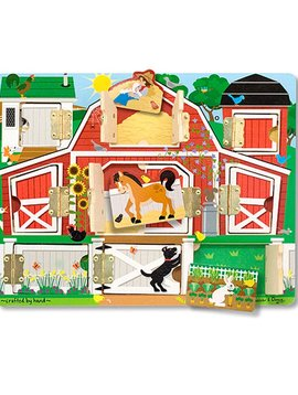 Toys & Games Melissa & Doug Magnetic Hide & Seek Farm