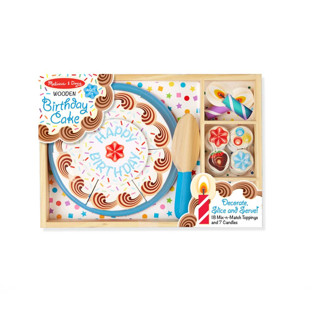 Toys & Games Melissa & Doug Decorate, Slice & Serve Birthday Party - Wooden Toy