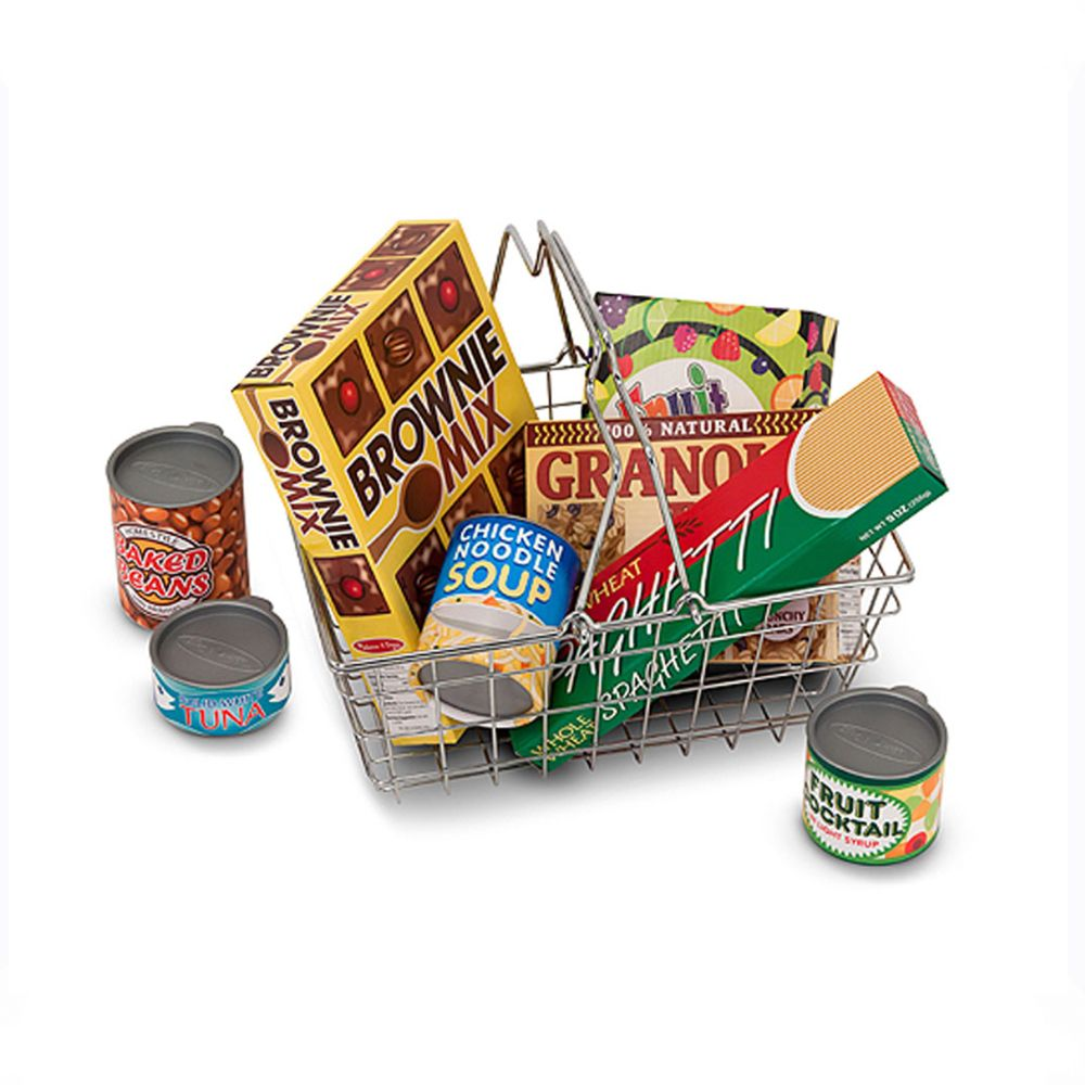 Toys & Games Melissa & Doug Let's Play House! Grocery Basket with Play Food