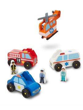 Toys & Games Melissa & Doug Emergency Vehicle Set