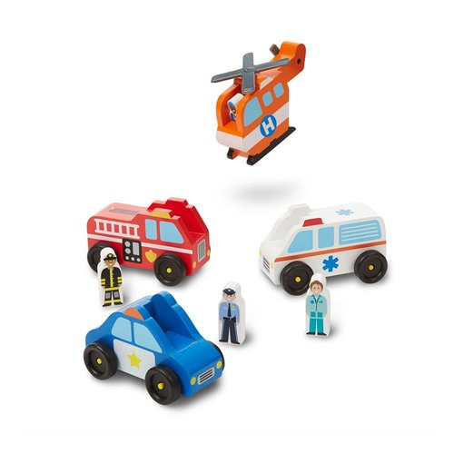Toys & Games Melissa & Doug Emergency Vehicle Set