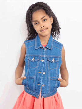 Sensory Clothing Kid's Denim Weighted Vest with Shoulder Weights