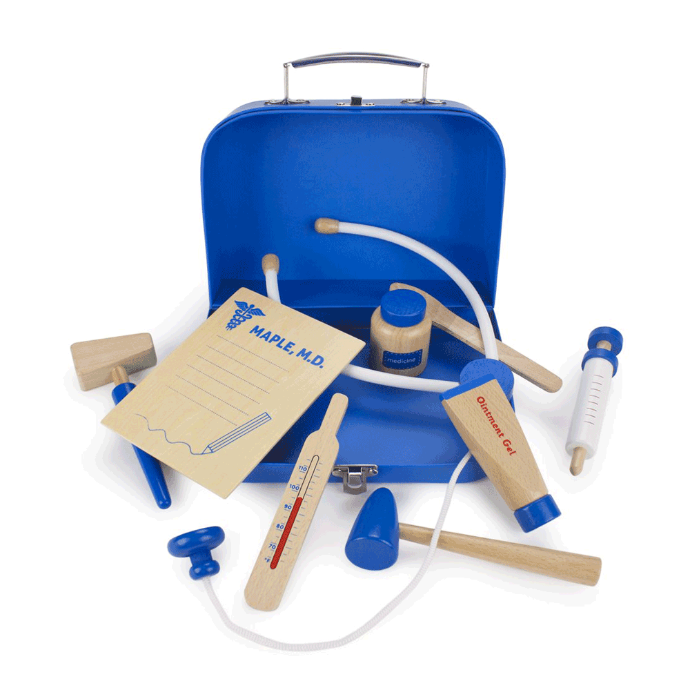 Toys & Games Dr. Maple's Wooden Wonders Medical Kit - 10 Peice Set!