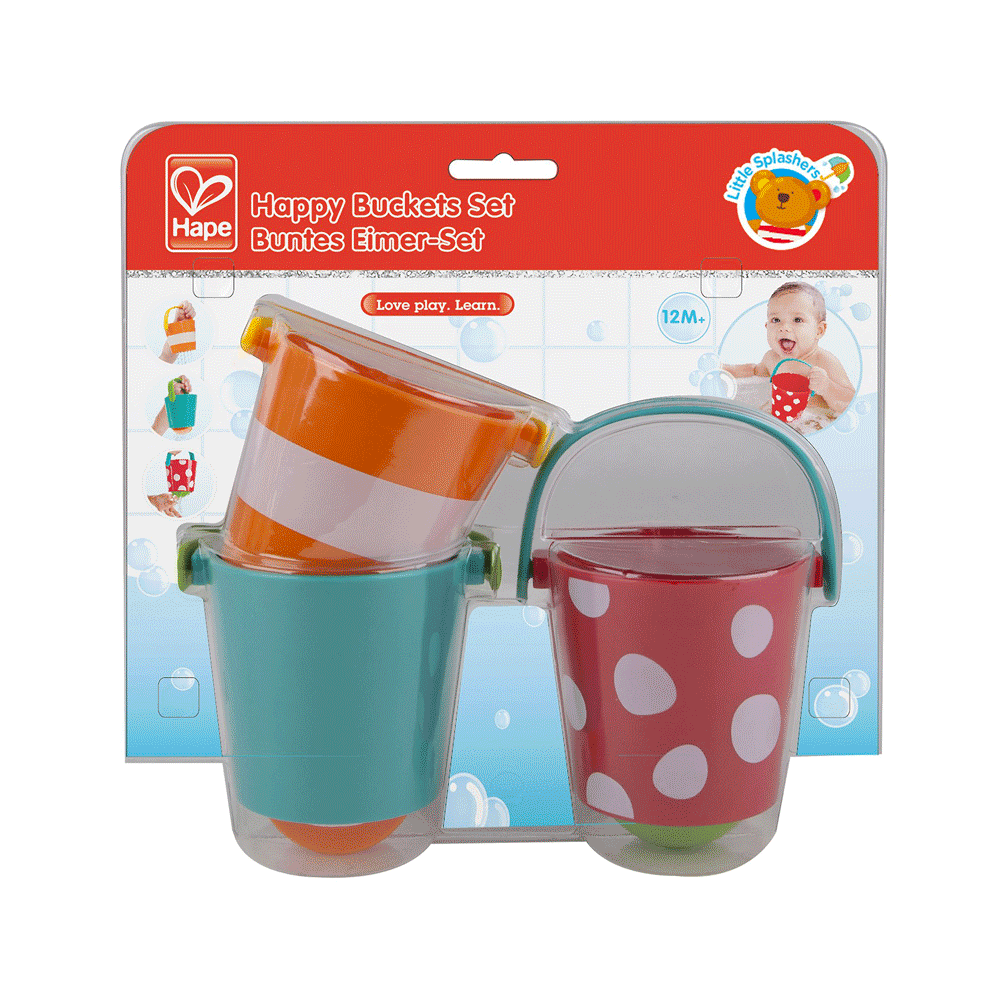 Toys & Games Hape Happy Buckets Set Water Toy