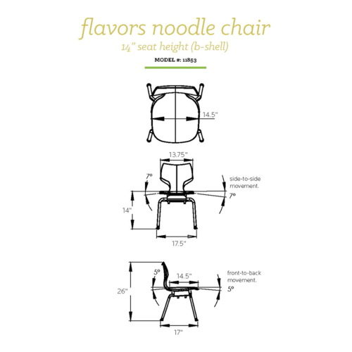 Classroom Aid Flavors™ Noodle Chair - Flex Seating that Encourages Movement!