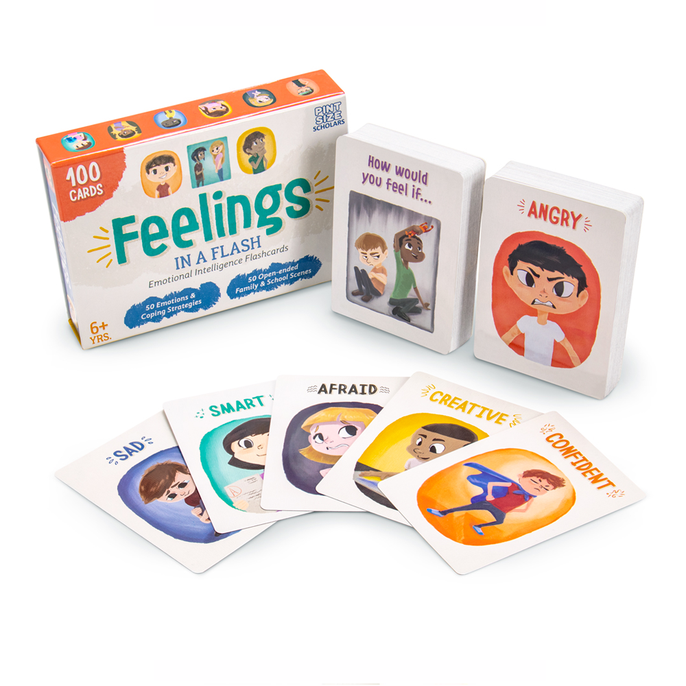 Toys & Games Feelings in a Flash - Emotional Intelligence Flashcard Game (100 Card Set)