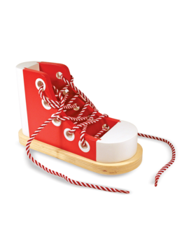 Therapy Equipment Melissa & Doug Wooden Lacing Shoe