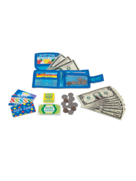 Toys & Games Melissa & Doug Pretend-to-Spend Wallet