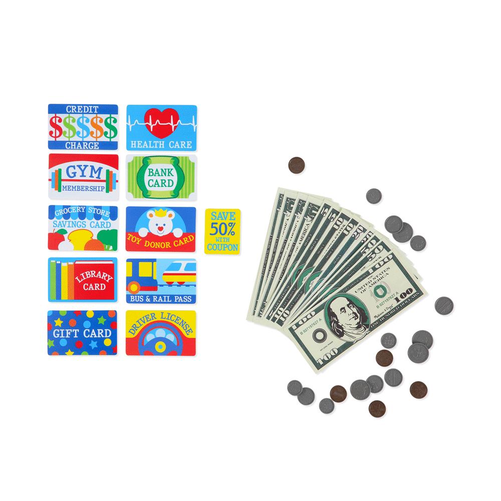 Toys & Games Melissa & Doug Pretend-to-Spend Wallet