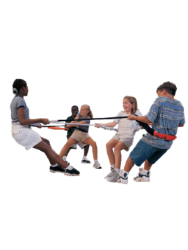 SENSORY Elastablast maximizes proprioceptive input: Grounds, helps motor coordination & promotes teamwork!