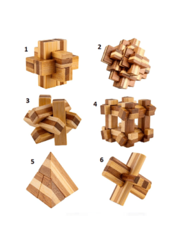 Toys & Games Mini Bamboo Wooden Fidget Puzzles