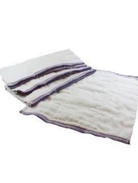 Diapers Osocozy Infant Better Fit (4x8x4 Layer) Indian Cotton Prefolds (1 DOZEN)