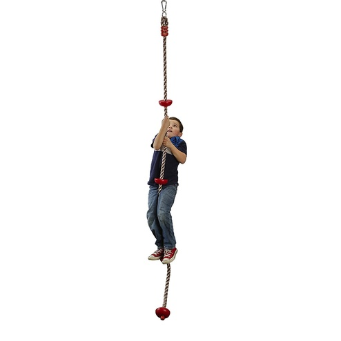Toys & Games b4Adventure NinjaLine Ninja Climbing Rope with Foot Holds, Red/Brown, 8'