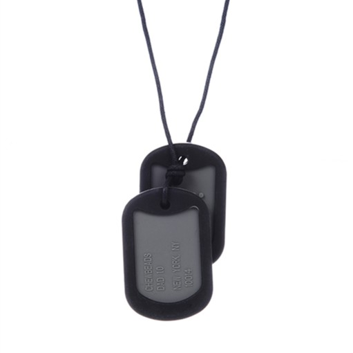 "Chews & Chewlry Chewbeads ""Juniorbeads"" Black Dog Tags for Teens & Adults"