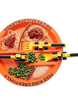 SENSORY Constructive Eating Construction Plate