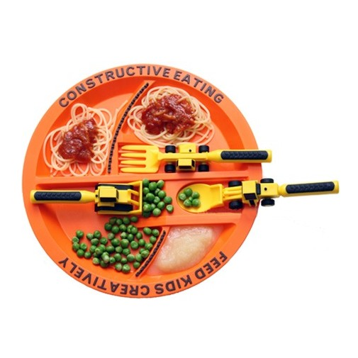SENSORY Constructive Eating Construction Plate