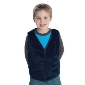 Sensory Clothing Kid's Fur Weighted Vest with Shoulder Weights