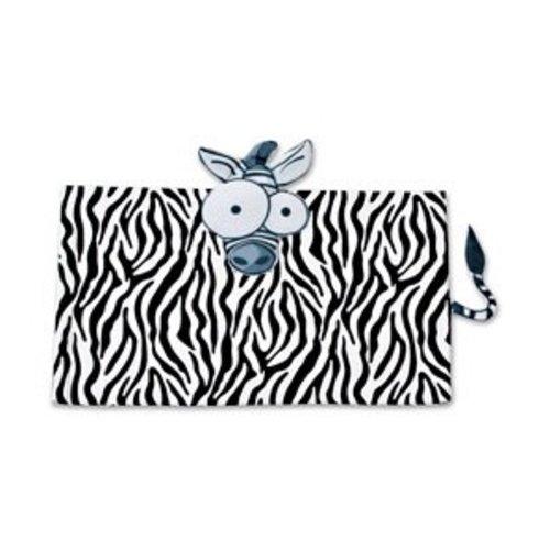 Sensory Clothing Weighted Zebra Animal Lap Pad, 5 LBS