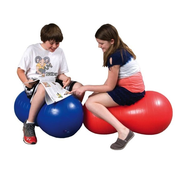 "Therapy Equipment XLarge 22"" Blue Peanut Ball"