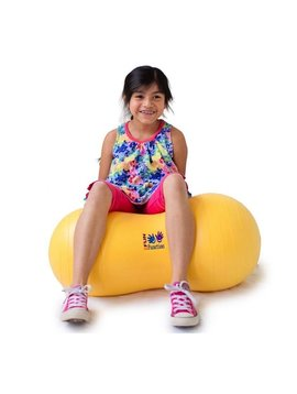 "Therapy Equipment Medium 16"" Yellow Peanut Ball"