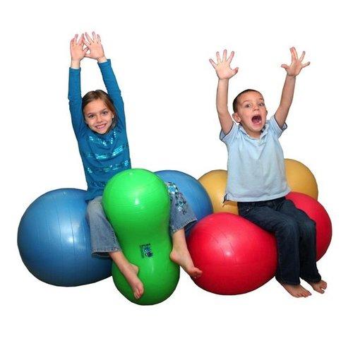 "Therapy Equipment Medium 16"" Yellow Peanut Ball"