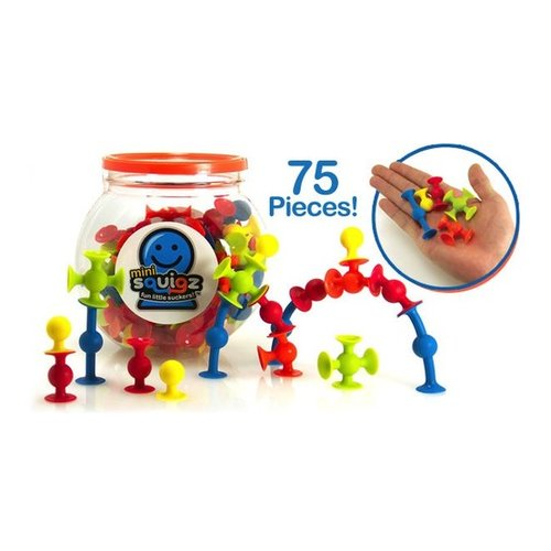 Toys & Games Mini Squigz 75 PC Building Kit & Travel Set