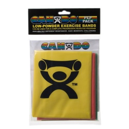 Therapy Equipment Cando Resistance Exercise Latex Bands (Set of 3)