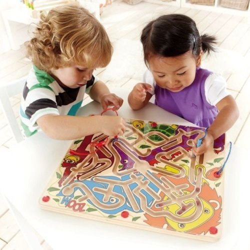 Toys & Games Hape Zoo'm 2 Player Magnetic Maze