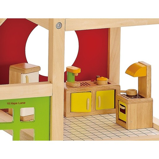 Special Order AWARD WINNING Hape All Seasons Furnished Wooden Dollhouse