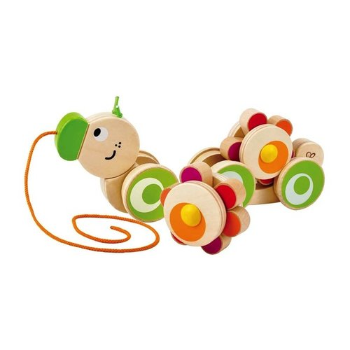 Toys & Games Hape Walk-A-Long Caterpillar Wooden Pull Toy