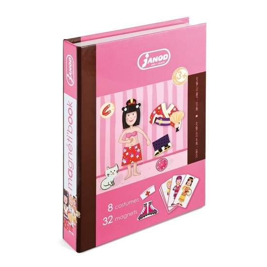 Toys & Games Janod Girl's Outfits Magnetibook