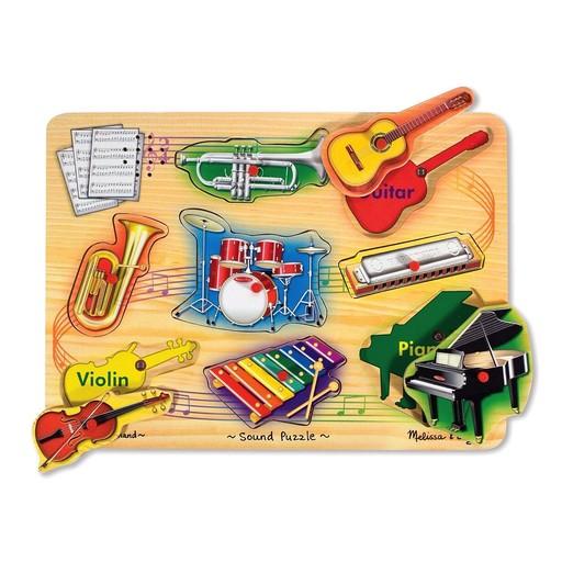 Sound & Lights Melissa & Doug Musical Instruments Sound Puzzle (8 Pieces)
