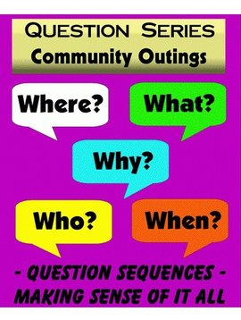 """Books Community Outings """"WH"""" Question Series Flashcards (40 Cards)"""
