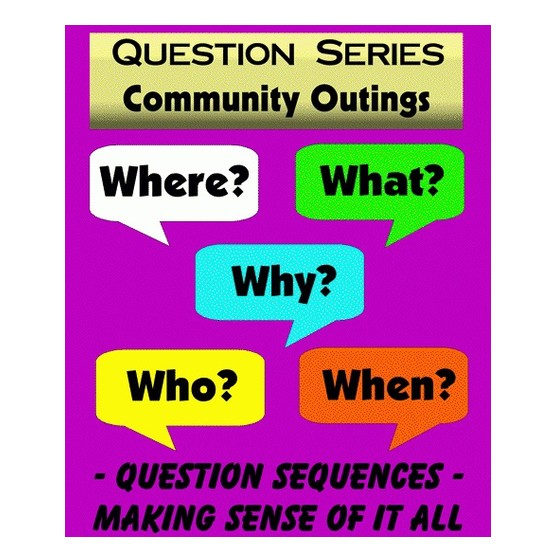 "Books Community Outings ""WH"" Question Series Flashcards (40 Cards)"