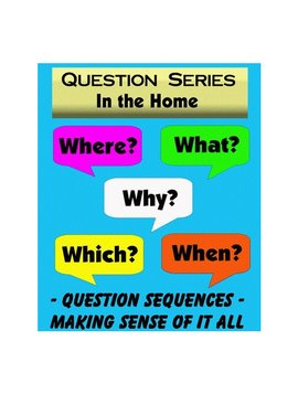 "Books In The Home  ""WH"" Question Series Flashcards (40 Cards)"