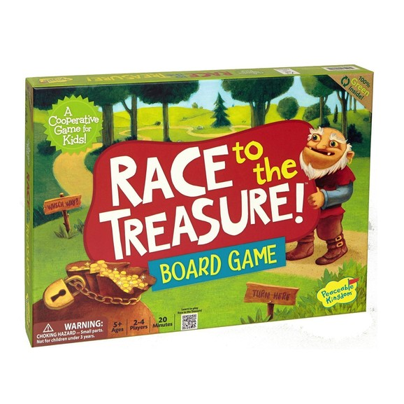 Toys & Games Peaceable Kingdom Race to the Treasure! Award Winning Cooperative Game for Kids