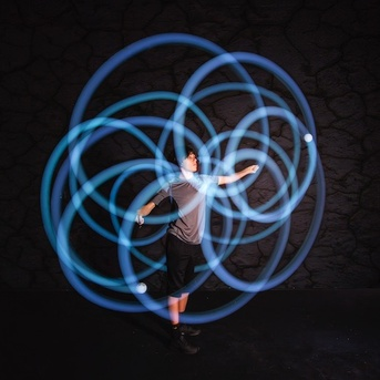 Toys & Games NEW & IMPROVED! Spin-ballS Spinning Lights - USB Recharge & 22 Light Modes
