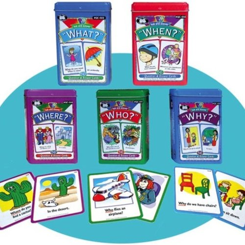 "Therapy Equipment Super Duper® Ask & Answer® ""WH"" Cards Combo Set (5 Decks)"