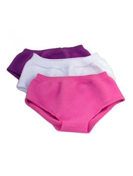 Sensory Clothing SmartKnit Kids Girls' Seamless Low Rise Boy Cut Style Undies (3 Pack)