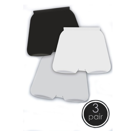 BLACK Seamless Boys stretch boxer SmartKnitKids 1 Pair MEDIUM