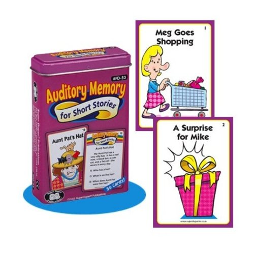 Therapy Equipment Super Duper® Auditory Memory for Short Stories Fun Deck®