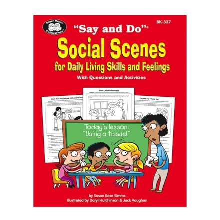 """Therapy Equipment Super Duper® """"Say and Do""""® Early Social Scenes Combo (3 Book Set)"""
