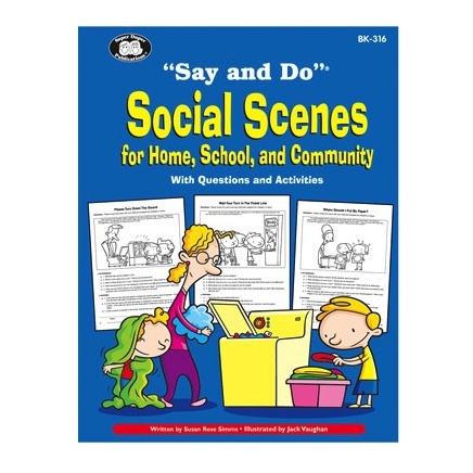 "Therapy Equipment Super Duper® ""Say and Do""® Early Social Scenes Combo (3 Book Set)"