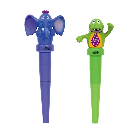 Therapy Equipment Abilitations Elephant & Gator Jigglers Chewable Oral Massagers (Set of 2)