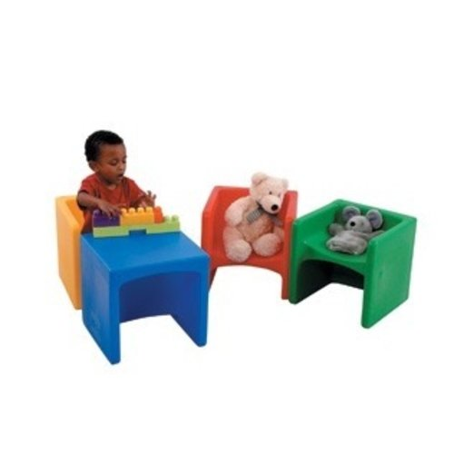 SENSORY Cube Chairs & Tables (Set of 4 Primary Colors)